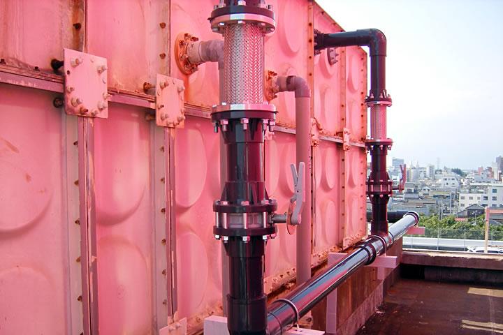 デパートのリフォーム ~某デパートの給水管の入替工事と受水層の清掃~